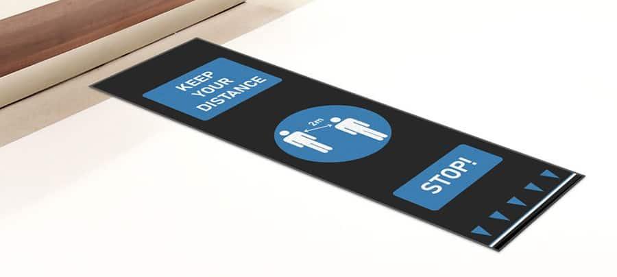 Social distance floor