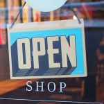 open shop sign window