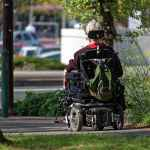 powerchair woman riding