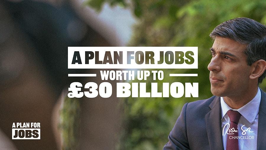 Rishi Sunak jobs plans for UK new