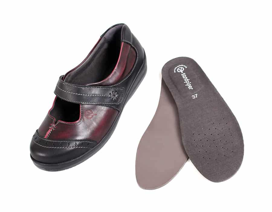 Filton Ladies Extra Wide Shoes from Sandpiper image
