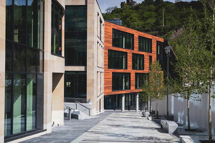 The outside of the new UK Government Hub in Edinburgh