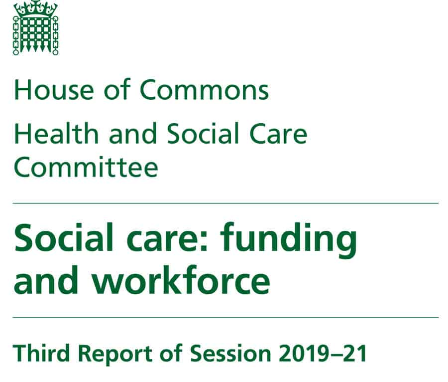 Health and Social Care Committee social care funding report image