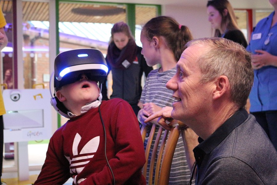 Virtual reality gaming for disabled children