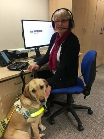 Millbrook Healthcare donates to Guide Dogs for the Blind image