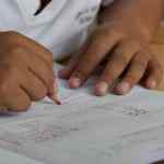 child writing image