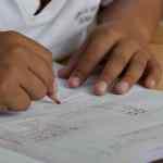 child writing image
