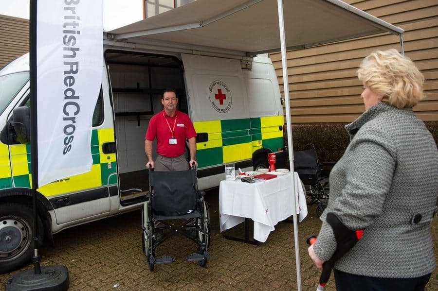 British red Cross pop-up