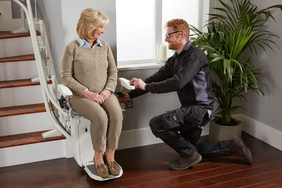 The Platinum Curve stairlift is a bestseller for the firm