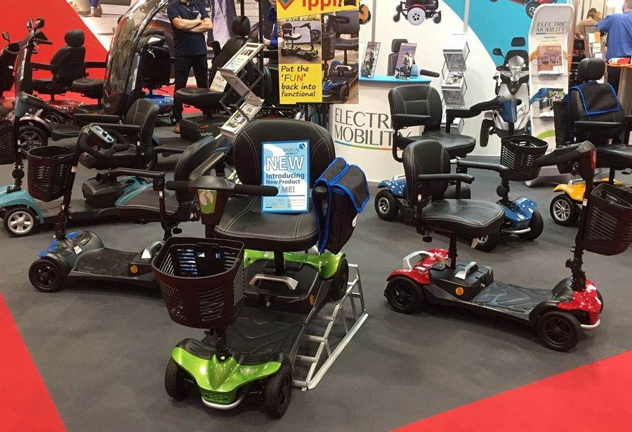 Electric Mobility Vippi Stand at Naidex