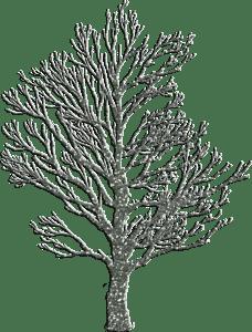 Getekend silhouet van een boom