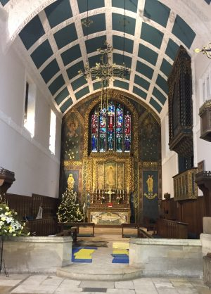 St James (Mere Green) looking festive.