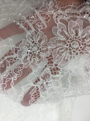Beautiful Chantilly lace for my wedding dress