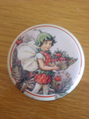 Flower fairies - I was obsessed with them when I was little and I've had this tin for years. It now contains all my sewing needles.