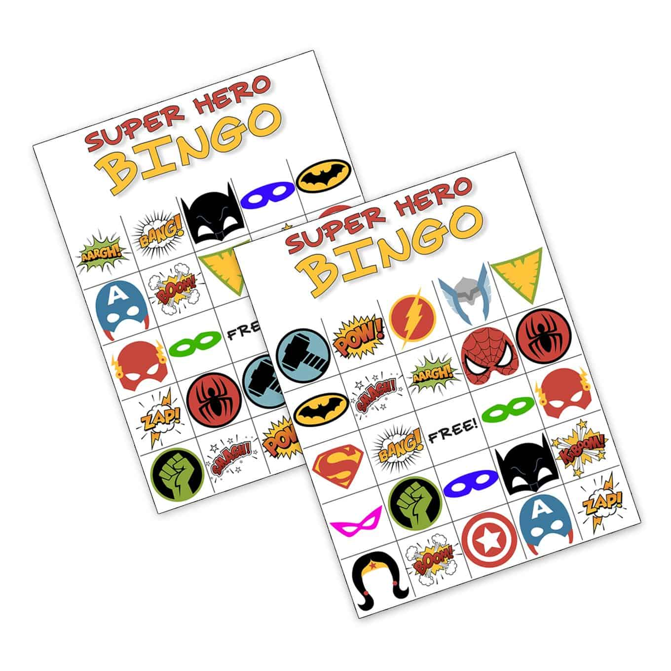 Free Printable Superhero Bingo 1