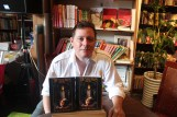 Author Nate Fleming at a book signing at the Bookworm, Chengdu, China - summer 2014