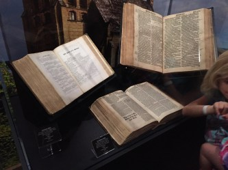 Some very old Bibles on display. Pretty impressive, and there were several.