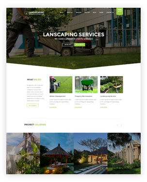 Landscaping WordPress theme - Landscaping WP