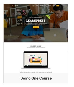 Education WordPress theme - Demo one course