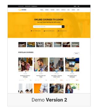 Education WordPress theme - Demo 2