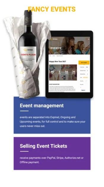 Education WordPress theme - Fancy events