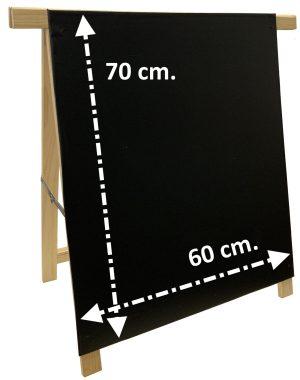 Pizarra Negra Caballete 1 y 2 Caras Para Rotulador de Tiza líquida y Tiza Convencional