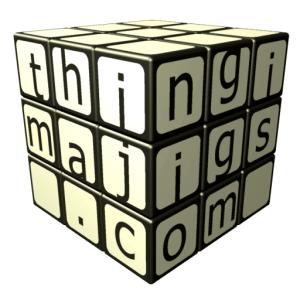 thingimajigs logo - rubiks cube