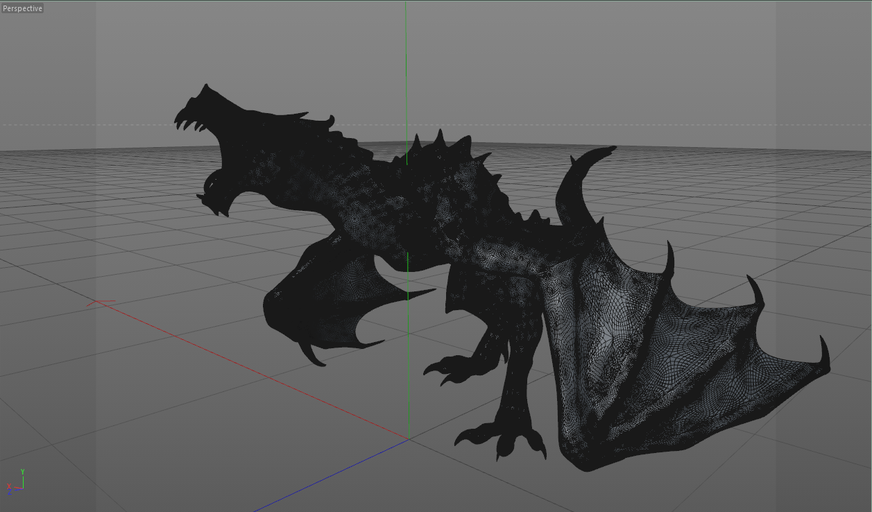 High Poly Skyrim Dragon Alduin By Neonartworks Thingiverse