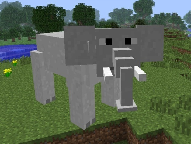Minecraft Elephant By Staceyiscool23 Thingiverse