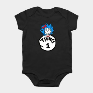 Thing 1 and Thing 2 Baby Onesies