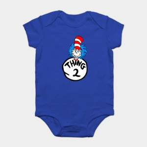 Thing One and Thing Two Onesies