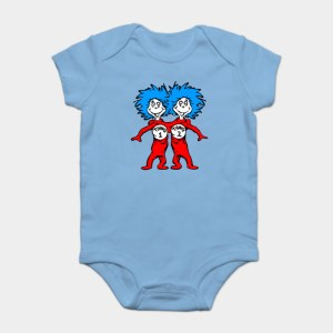 Thing 1 and Thing 2 Onesies