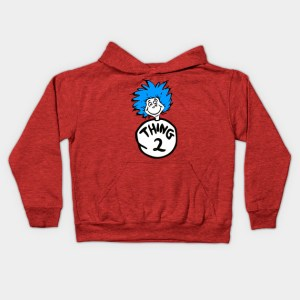 Thing One and Thing Two Kids Hoodie