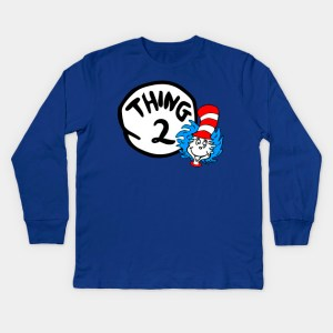 Thing One and Thing Two Kids Long Sleeve T-Shirt