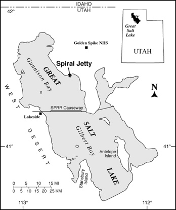 spiral jetty map
