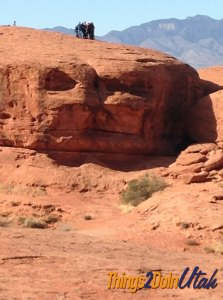 Dixie Rock at Pioneer Park in St George