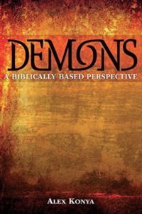 book jacket of Demons: A Biblically Based Perspective by Alex Konya