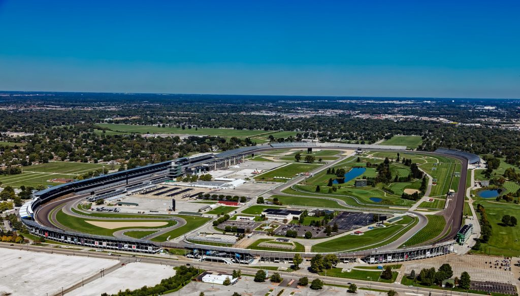 Aerial view of Indianapolis Motor Speedway