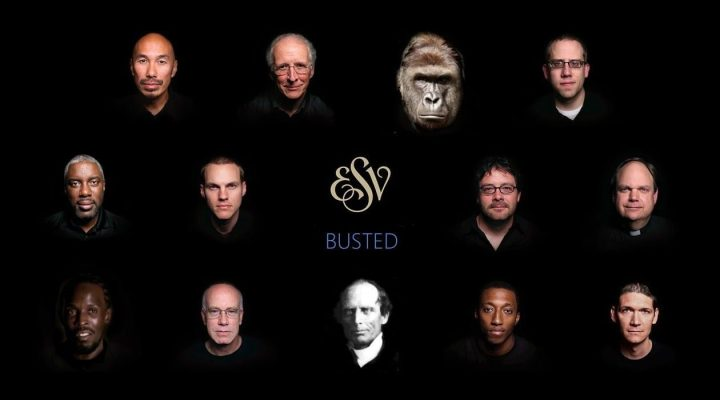 ESV meme with celebrity faces including Harambe and Charles Finney