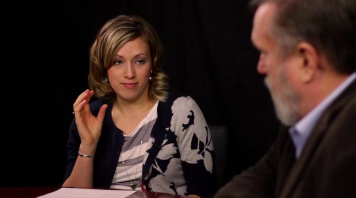 Rachel Jankovic and Douglas Wilson. Sourced from https://vimeo.com/33690002 under Fair Use.