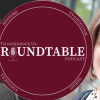 TAU Roundtable logo superimposed on background with Nate Collins and Rachel Held Evans