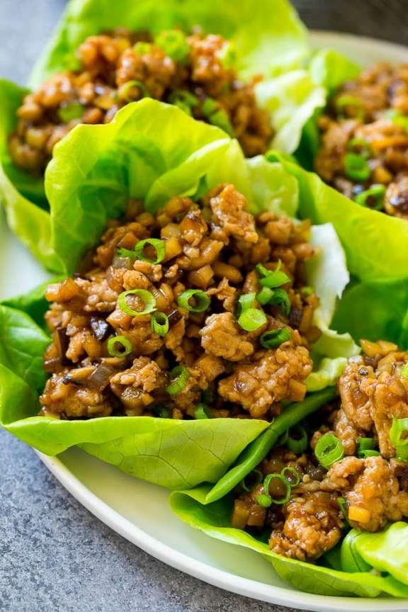 Paleo Asian Chicken Cashew Wrap