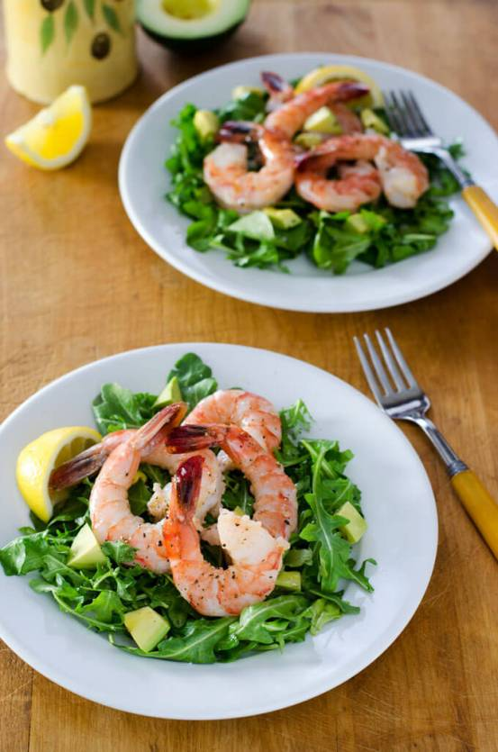Paleo Shrimp Arugula Salad