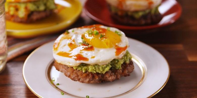 Paleo breakfast sausage sandwich
