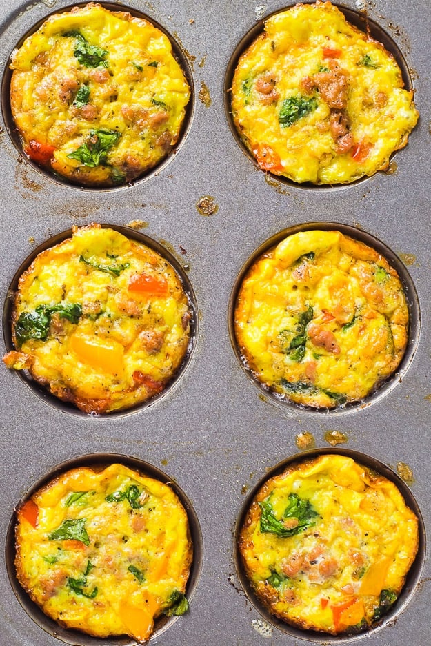 Paleo egg sausage muffins