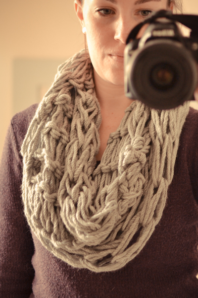 arm knitted scarf #thingsdeeloves -1