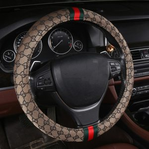 Flash Mat Car Gucci Inspired Steering Wheel Cover