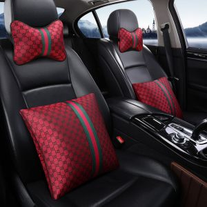 Gucci Inspired 4pc Neck Headrest Pillow & Seat Pillow Set