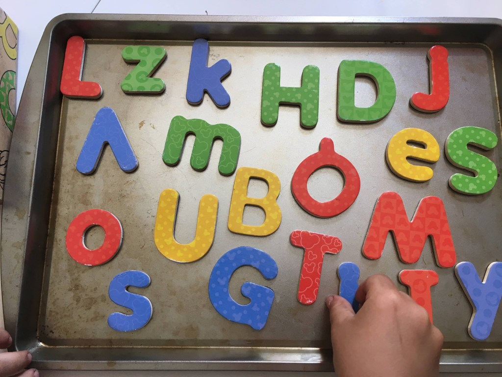 Quick Activities for Toddlers, Magnets on Baking Pan