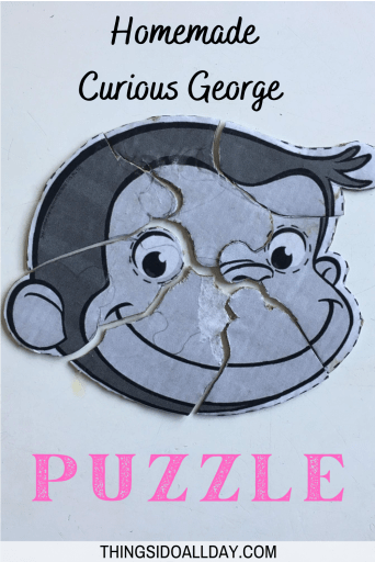 DIY Curious George Puzzle for Kids